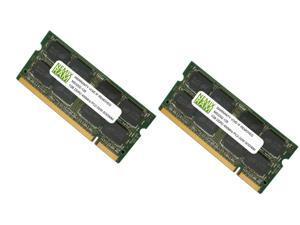 NEMIX RAM 2GB (2X1GB) DDR2 400MHz PC2-3200 200-pin SODIMM Laptop Notebook Memory