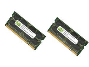 NEMIX RAM 2GB (2 x 1GB) DDR2 667MHz PC2-5300 Memory For Dell Laptop - SNPPP102CK2/2G, A0944558