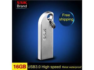 SSK Thumbs USB 3.0 large usb flash drives pen drive 100% 16GB High speed Metal waterproof usb flash drive -inUSB Flash Drives