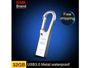 SSK K6 USB 3.0 100% 32GB USB flash drives pen drive waterproof High speed metal 32G USB 3.0 flash drives