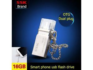 SSK SFD236 16GB OTG USB Flash Drives Smart Phone Tablet PC External Storage Micro 16G Pen Drive Memory Usb Stick -inUSB Flash Drives