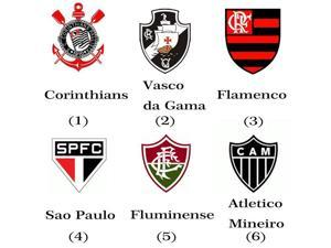 For Export Only Brazil Football Club Badge Sport Souvenirs Usb Flash Drive 8GB Corinthians/Flamengo/Santos/palmeiras Team Logo