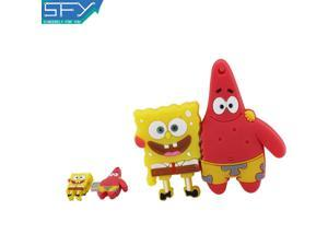 SFY Real Capacity Spongebob And Shanghai Stars8GB 16GB 32GB Pen Drive Pendrive USB Flash Drive For PC