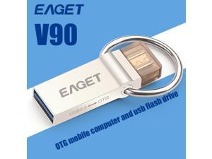 Official EAGET V90 USB Flash Drive OTG Smartphone Pen Drive Micro USB Pendrive USB 3.0 High Speed 64GB Flash Drive USB Stick