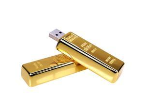 100% real 16GB Gold Bar Pen Drive Steel USB Stick Pendrive Metal USB Flash Drive Bullion USB 2.0 Flash Card Creative USB Stick