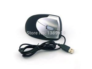 Black USB Optical Ergonomic Vertical Wired Mouse Showcase Comfort Simplicity 1600 DPI