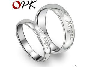 OPK Engagement lover couples his and hers promise ring sets,Women Mens Stainless Steel Rings jewellery,Wholesale&, ,
