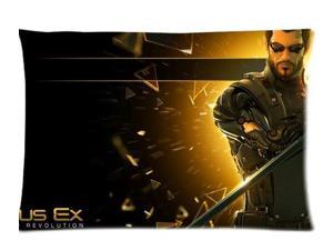 Deus Ex Human Revolution Pillowcases Custom Pillow Case Cushion Cover 20 X 26 Inch Two Sides