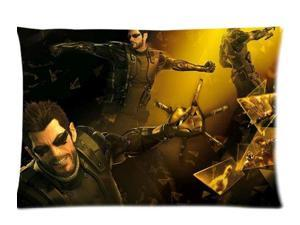 Deus Ex Human Revolution Pillowcases Custom Pillow Case Cushion Cover 20 X 30 Inch Two Sides