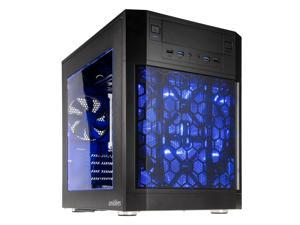 anidees AI-07BW Black Dual Chamber ATX Case - Side Window, 4 LED Fans, Fan Controller, Fan Hub, Dust Filters, Water Cooling Support - AI7-07BW