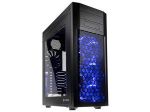 anidees ATX Full Tower Gaming Computer Case - Supports Up to E-ATX, Dual PSUs, Up to 7 Fans 360/280/240/120mm Radiator, 3 LED Fans, Fan Hub, Fan Controller, Side Window Version - AI-08BW