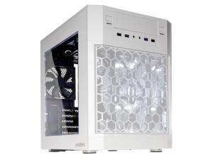 anidees AI-07WW Dual Chamber ATX Case - Side Window, 4 LED Fans, Fan Controller, Fan Hub, Dust Filters, Water Cooling Support -AI-07 White Window Version