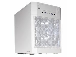 anidees AI-07W Dual Chamber ATX Case - Side Window, 4 LED Fans, Fan Controller, Fan Hub, Dust Filters, Water Cooling Support - AI-07 White Version
