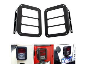 2x Rear light Tail lamp Light Guards Protector Trim Cover for Jeep Wrangler JK Sport X Sahara Rubicon & Unlimited