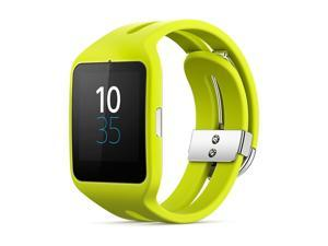 Sony SW3 SmartWatch 3 Smart Watch 3 SWR50 Yellow Lime Silicon Strap