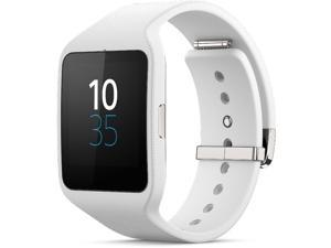 Sony SW3 SmartWatch 3 Smart Watch 3 SWR50 White Silicon Strap (International Version, No US Warranty)