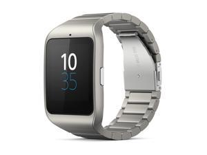 Sony Smart Watch 3 SWR50 Powered by Android Wear Silver Metal Strap supports Android and iOS