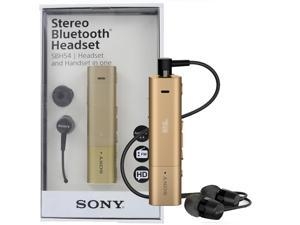 Sony SBH54 NFC A2DP Stereo Bluetooth HD Voice Noise Cancellation Headset FM Handset - Gold