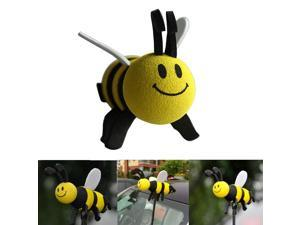 Cute Car Antenna Toppers Smiley Honey Bumble Bee Aerial Ball Antenna Topper