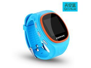 Waterproof Children GPS Watch Kids Smart Tracking Phone Watch Wifi Bluetooth Location LBS SOS Blue Color