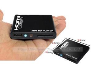 HD 1080P Mini HD Media Player Muti-function Mini HDMI USB HD Media Player With Remote Control