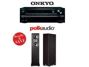 Onkyo TX-NR747 Receiver + a Pair of Polk Audio TSi 300 Floorstanding Speakers