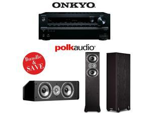 Onkyo TX-NR646 7.2-Ch Network Receiver + 2 Polk TSi300 Tower's + 1 CS10 Speaker