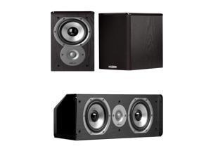 Polk Audio TSi100 Bookshelves (Pair) Bundled with a CS10 Center Channel Speaker