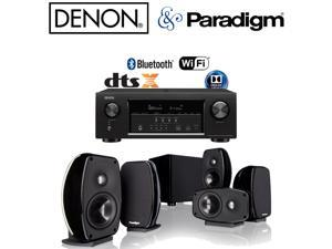 Denon AVR-S720W 7.2 4K HD AV Receiver + Paradigm Cinema 100 CT Speaker System