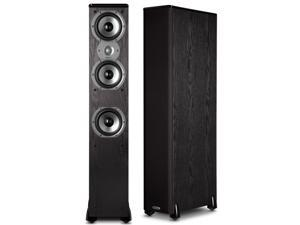 "Polk Audio TSi400 4-Way Tower Speakers with Three 5-1/4"" Drivers - Pair (Black)"