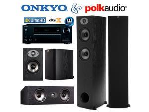 Onkyo TX-NR656 Bundle with Polk (2) TSx 330T, (2) TSx 110B, and (1) TSx 150C