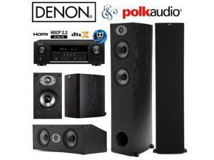 Denon AVR-S720W Bundle with Polk (2) TSx 330T, (2) TSx 110B, and (1) TSx 250C