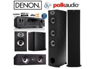 Denon AVR-X1300W Bundle with Polk (2) TSx 440T, (2) TSx 110B, and (1) TSx 150C