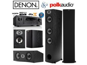 Denon AVR-X1300W Bundle with Polk (2) TSx 440T, (2) TSx 110B, and (1) TSx 250C