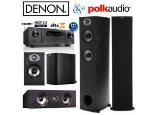 Denon AVR-X1300W Bundle with Polk (2) TSx 330T, (2) TSx 110B, and (1) TSx 150C