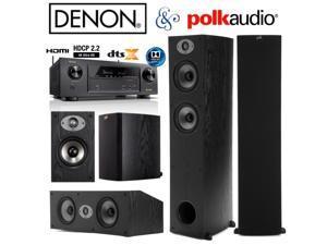 Denon AVR-X1300W Bundle with Polk (2) TSx 330T, (2) TSx 110B, and (1) TSx 250C