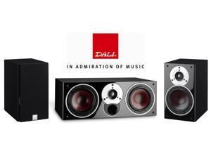 Dali Speaker Bundle with (2) Zensor 1 and (1) Zensor Vokal in Black Ash
