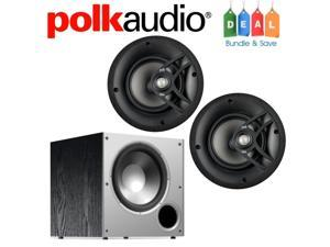 Polk Audio Bundle with (2) V60 In-Ceiling Speakers and (1) PSW10 Subwoofer