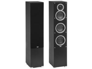 Elac Debut F5 3-Way Bass Reflex Floorstanding Speaker (Pair, Black)