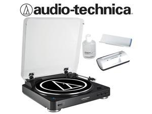 Audio-Technica AT-LP60-BT Turntable in Black Bundled with AT6012 Record Care Kit