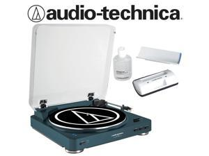 Audio-Technica AT-LP60-BT Turntable in Navy Bundled with AT6012 Record Care Kit