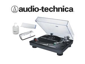 Audio-Technica AT-LP120-USB in Black Bundled with AT6012 Record Care Kit