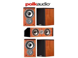 Polk Audio System with (4) TSi100 Speakers and (1) CS10 Speaker in Cherry