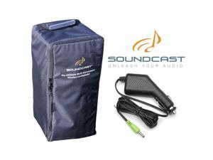 Soundcast Bundle with OutCast Jr Carrying Bag and iCast In-Car Power Adapter