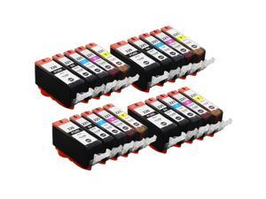 E-Z Ink ™ Compatible Ink Cartridge Replacement for Canon PGI-220 CLI-221 (20) Pack (4 Black, 4 Cyan, 4 Magenta, 4 Yellow, 4 Photo Black) 2945B001 2947B001 2948B001 2949B001 2946B001