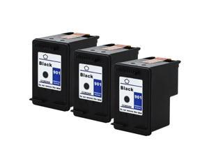SL 3 Pk HP 901 Black Ink Cartridge For Officejet J4524 J4580 J4500 4500 Printer