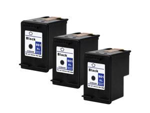 SL 3 Pk HP 901 XL Black Ink Cartridge For Officejet G510n J4640 J4680 4500 Printer