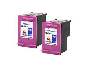 SL 2 Pack HP 901 Color Ink Cartridge For Officejet 4500 G410a G410g G410n Printer