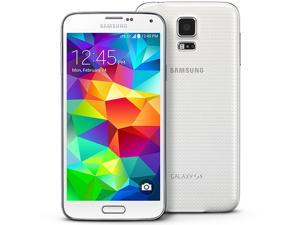 Refurbished: Samsung Galaxy S5 SM-G900A 16GB (AT&T) 4G LTE + Unlocked GSM Smartphone - White