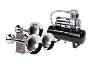 Huge Triple Train Air Horn w/150 psi Super Duty Air System - Real Train Sound!